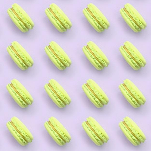 ライムデザートケーキマカロンまたはマカロンパターン