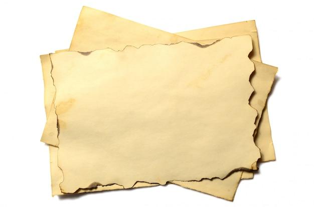 アンティークヴィンテージ崩壊している紙原稿または羊皮紙のいくつかの古い空白部分
