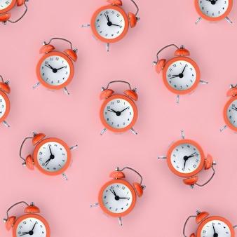 多くのサンゴ赤目覚まし時計