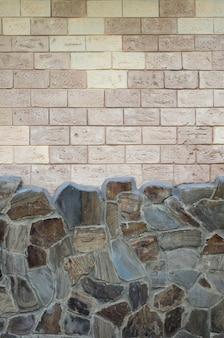 Деревенский старый бежевый белый фон кирпичной стены