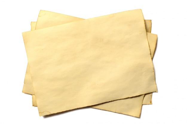アンティークヴィンテージ崩壊しつつある紙原稿または羊皮紙のいくつかの古い空白部分