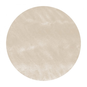 Коричневый ручной обращается акварель круглая рамка текстуры с пятнами