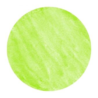 Светло-зеленый рисованной акварель круглая рамка текстуры с пятнами