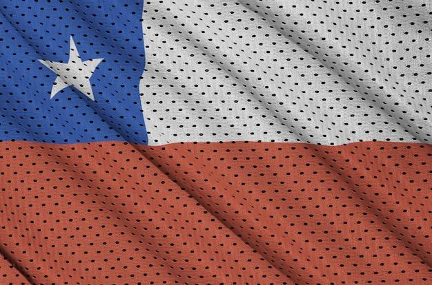 ポリエステルナイロンスポーツウェアメッシュ生地にチリの旗を印刷