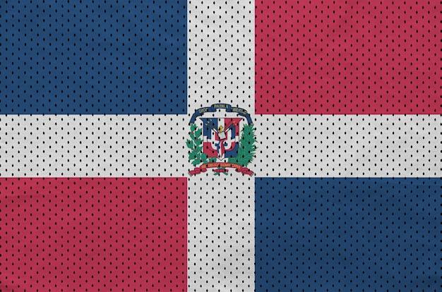 Флаг доминиканской республики напечатан на полиэстер нейлон спортивной одежды