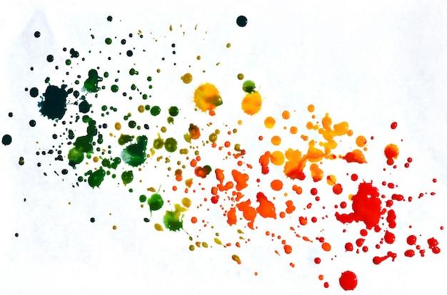 カラフルな黄色オレンジと赤の水彩背景。アクワレル明るい色の図