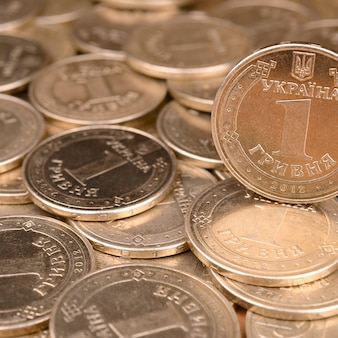 豊かな生活のための経済的な成功ウクライナのお金の背景