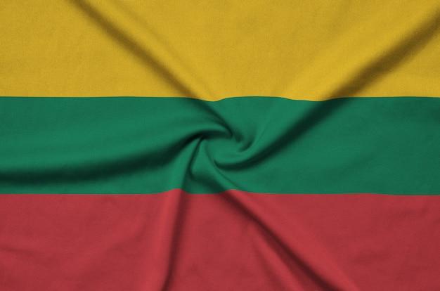 多くの折り目を持つリトアニアの旗。