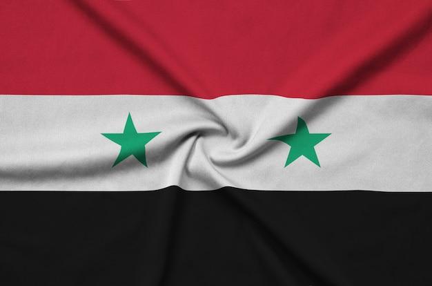 Сирия флаг со многими складками.