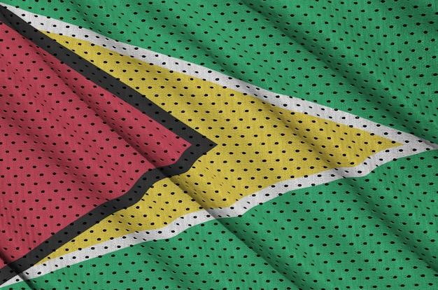 ポリエステルナイロンスポーツウェアメッシュ生地にガイアナの旗を印刷
