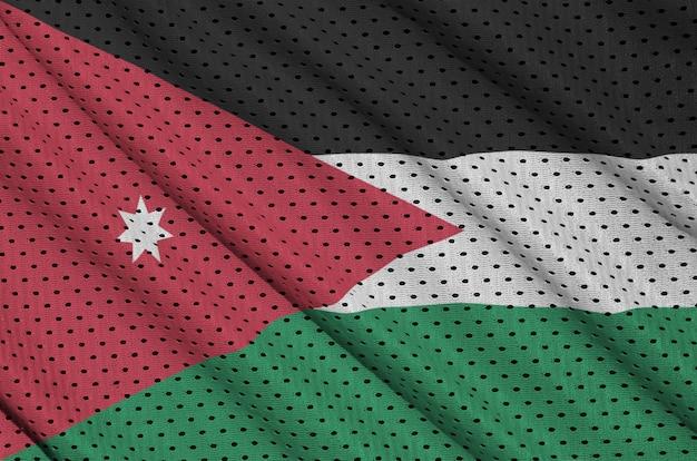 ポリエステルナイロンスポーツウェアメッシュ生地に印刷されたヨルダンの旗