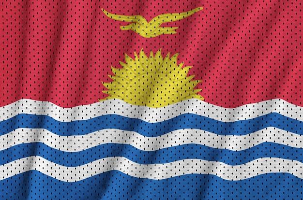 ポリエステルナイロンスポーツウェアメッシュ生地にキリバス旗を印刷