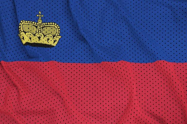ポリエステルナイロンスポーツウェアメッシュに印刷されたリヒテンシュタインの旗