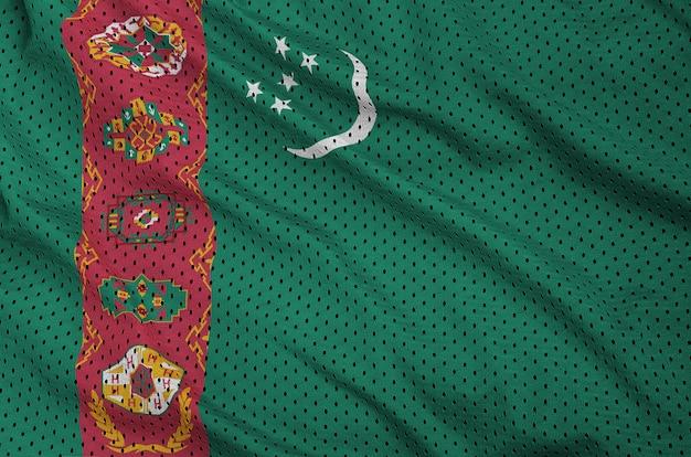 ポリエステルナイロンスポーツウェアメッシュ生地にトルクメニスタンの旗を印刷
