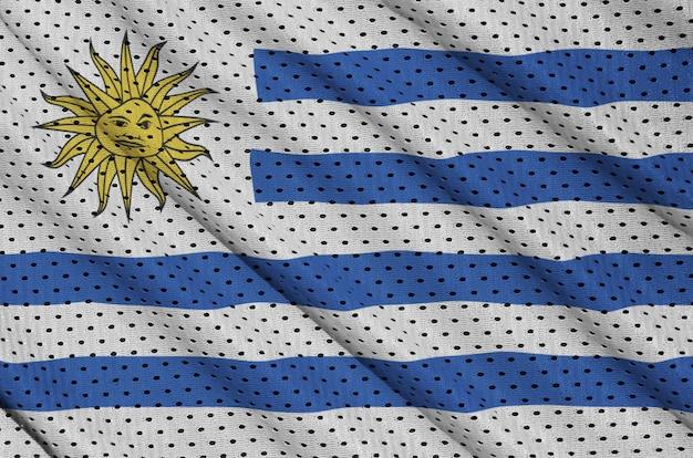 Флаг уругвая с рисунком на сетке из полиэстера и нейлона