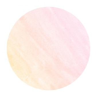 Теплый оранжевый рисованной акварель круглая рамка фоновой текстуры с пятнами