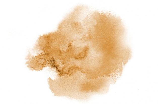 手描きデザインのオレンジ色の水彩図形。創造的な塗装の背景、手作りの装飾