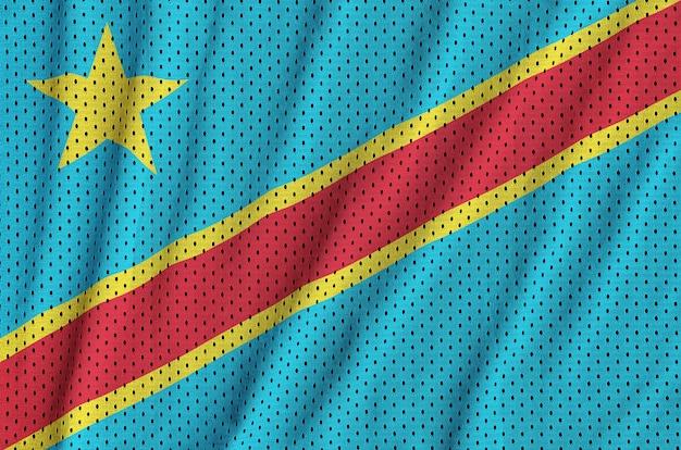 ポリエステルナイロンに印刷されたコンゴ民主共和国の旗