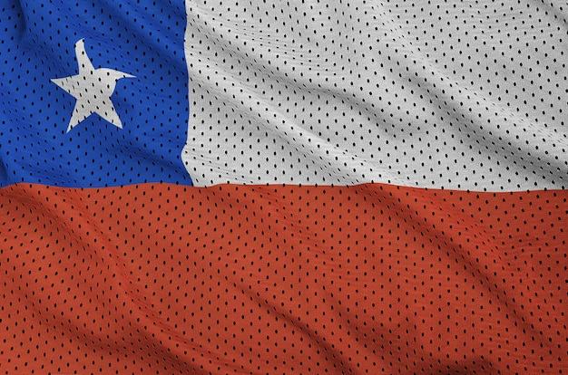 ポリエステルに印刷されたチリの旗