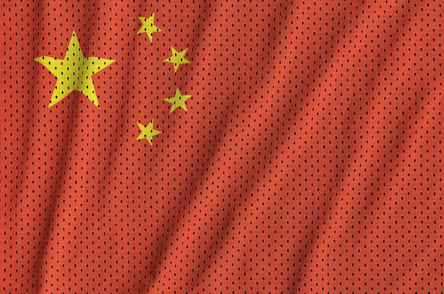 Флаг китая напечатан на полиэфирной нейлоновой сетке