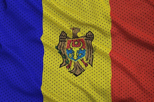 ポリエステルナイロンメッシュに印刷されたモルドバの旗