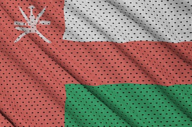 Оманский флаг на полиэфирной нейлоновой сетке