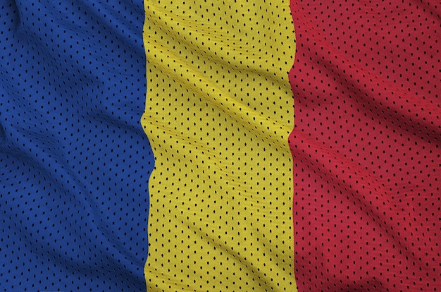 Флаг румынии напечатан на полиэфирной нейлоновой сетке