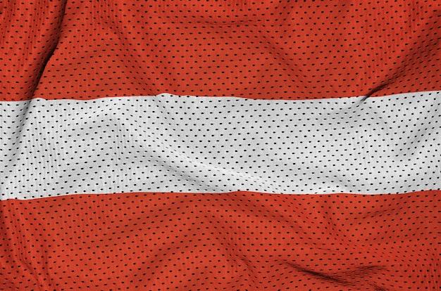 ポリエステルナイロンスポーツウェアメッシュ生地にオーストリア国旗を印刷