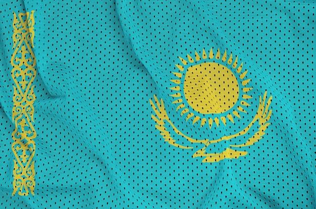 ポリエステルナイロンスポーツウェアメッシュ生地に印刷されたカザフスタンの旗