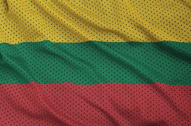 ポリエステルナイロンスポーツウェアメッシュ生地にリトアニアの旗を印刷
