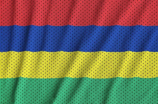 ポリエステルナイロンスポーツウェアメッシュ生地にモーリシャスの旗を印刷