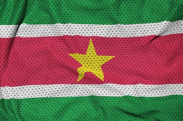 ポリエステルナイロンスポーツウェアメッシュ生地に印刷されたスリナムの国旗