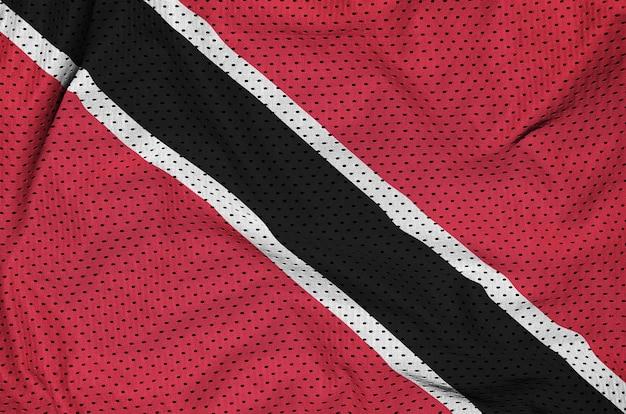 ポリエステルナイロンスポーツウェアファブリックに印刷されたトリニダード・トバゴの旗