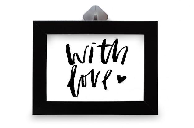 С любовью. рукописный текст