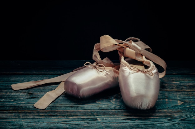 Пуэнт балетная обувь.