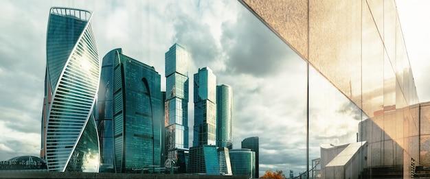 リフレクションモスクワ国際ビジネスセンター、モスクワロシア。