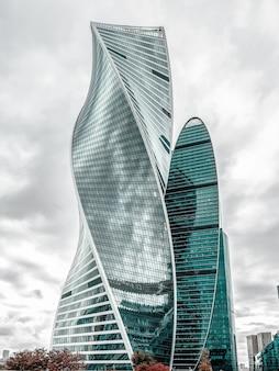モスクワ市。ロシア、モスクワ国際ビジネスセンター。