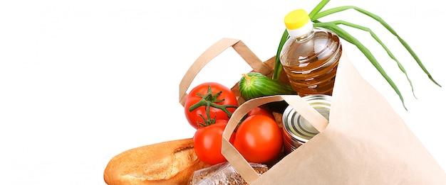 Бумажный пакет с продуктами питания
