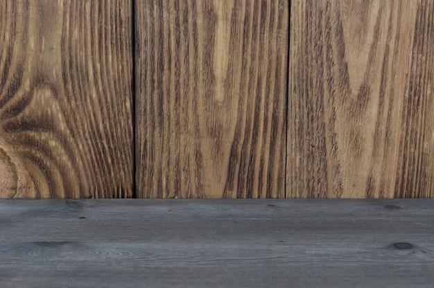 Цветной деревянный фон горизонтальных и вертикальных текстур доски двух видов.
