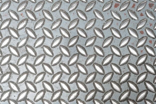 抽象的な金属の質感、背景のためのスチール床のアルミニウムプレートパターンスタイル。
