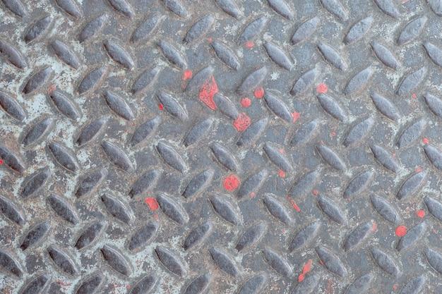 古い金属の質感、背景の鋼鉄床のアルミ板パターンスタイル。