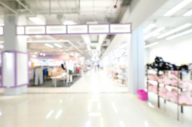 ショッピングモールの抽象的なデフォーカス背景をぼかし。ビジネスコンセプトです。