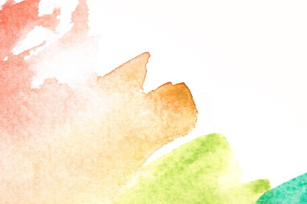 抽象的な美しい水彩とテクスチャは、白い背景に
