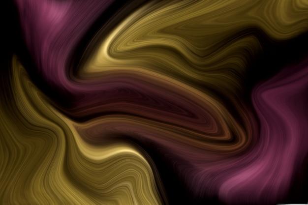 豪華な紫と金の液体色の背景