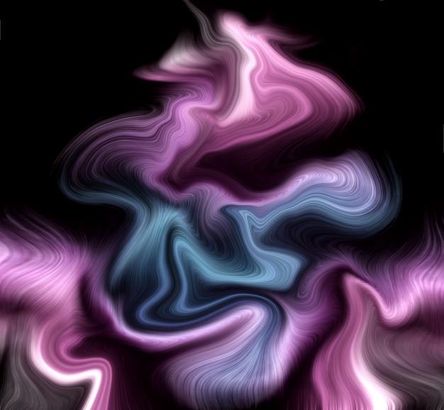 Роскошные фиолетовые и синие жидкие цвета фона