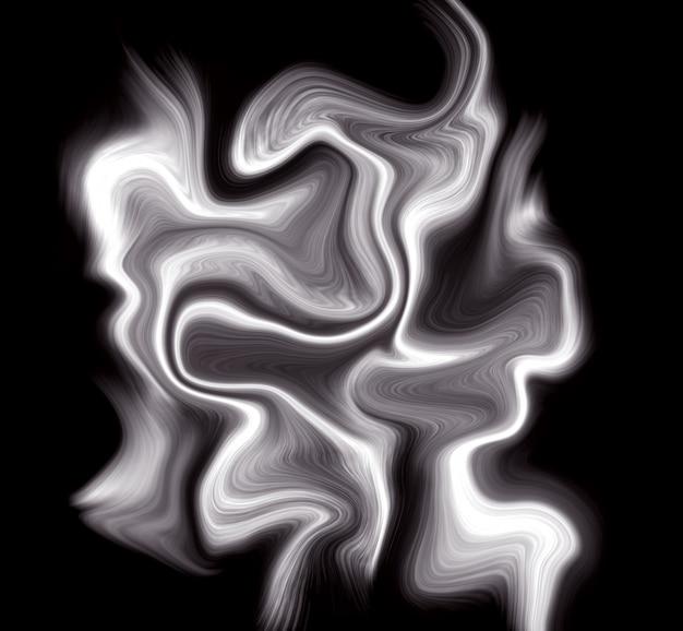 Роскошный белый жидкий черный фон