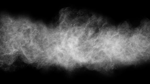 メイクアップアーティストのための白い粉効果スプラッシュ
