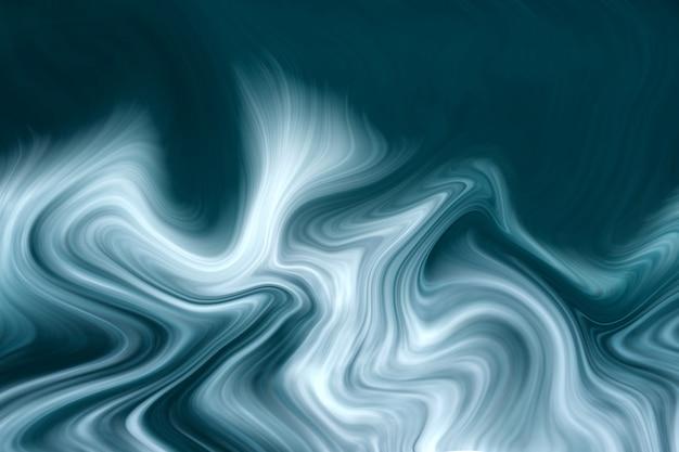 Роскошный синий жидкий мрамор фон