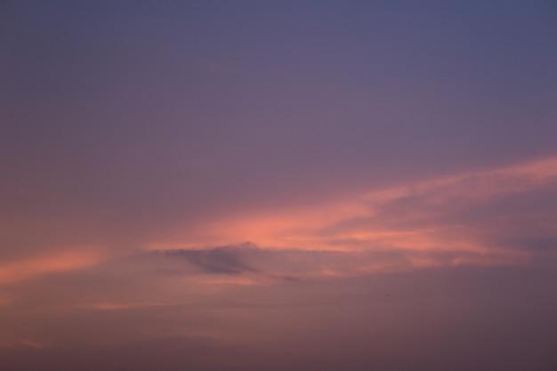 日曜日の朝の美しい夕日