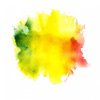 カラフルな水彩背景。アートハンドペイント